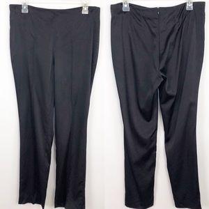 Akris Stretch Silk Ankle Pants Black Sz 8